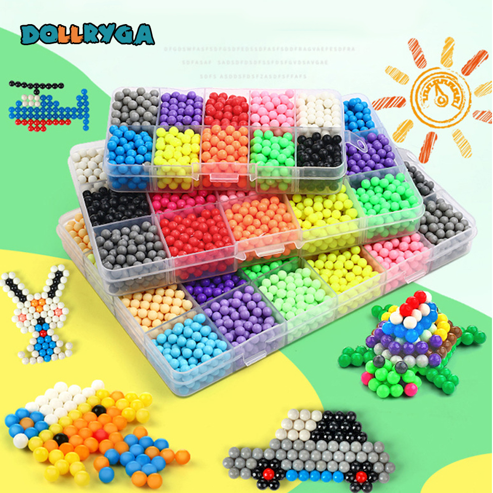 DOLLRYGA Hama Beads For Jewelry Making Aqua Water Perler DIY High Quality Children Handmade Educational Toys Creative Kid Craft