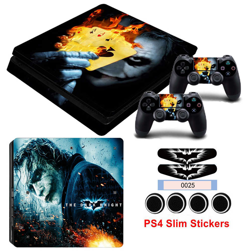 Stickers For Playstation 4 PS4 Slim Console&Controller Gamepad Joker Skin Vinyl Decals Cover With Light Bar Sticker&Cover Caps