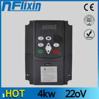220V 4KW Single Phase input and 3 Phase Output Frequency Converter / Adjustable Speed Drive / Frequency Inverter / VFD