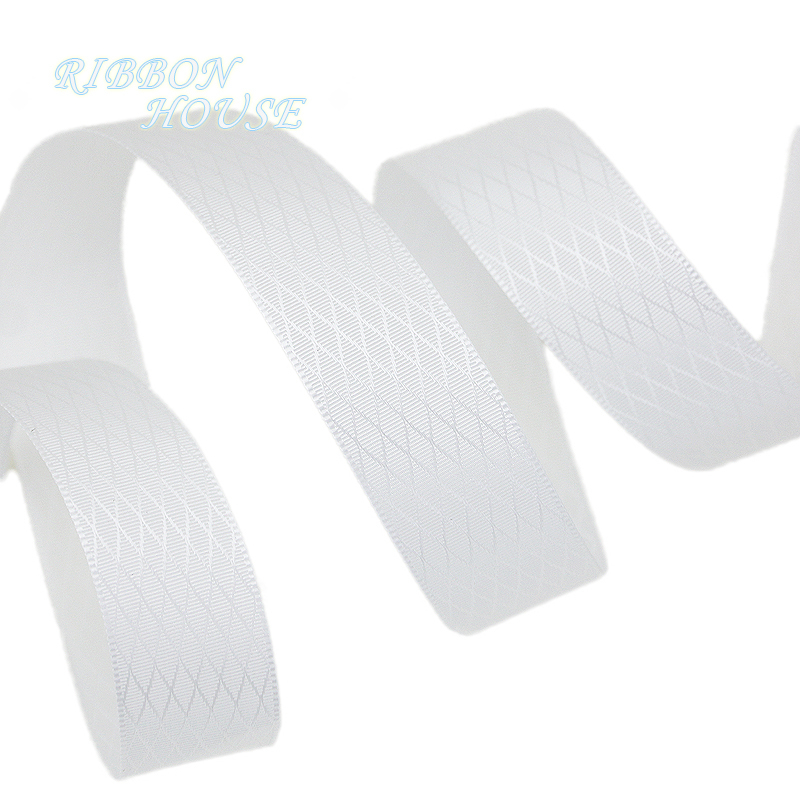(10 ярдов/рулон) белый алмаз double face сатиновая подарочная лента свадебные ленты