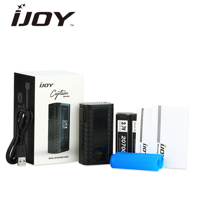 Original 234W IJOY Captain PD270 TC BOX MOD Powered By Dual 20700 Battery 6000mAh NI/TI/SS Temp Control E-cig BatteryVape Mod original ijoy captain pd270 box mod 234w ni ti ss tc electronic cigarette vaper power by dual 20700 vape mod vaporizer atomizer