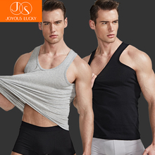 2Pcs/lot Undershirt Men Cotton Mens Sleeveless Muscle Vest UnderWear Cotton Undershirts O-Neck Sexy Clothing T-shirts Sale