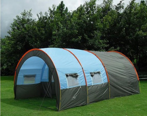 Huge Camping Tent Waterproof Canvas Fiberglass 5 6 8 10 Person Family Base Beach Tunnel Tent Outdoor Relief Party Camping Tent