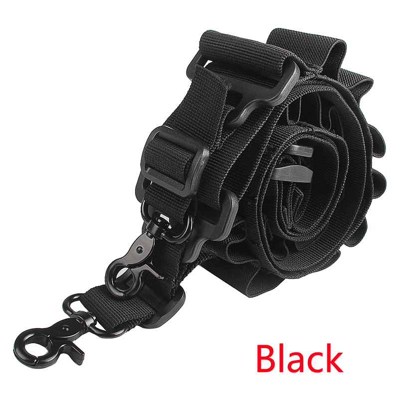 Tactical  Shotgun Two Points Sling Strap Adjustable Hunting Rope Strap Metal Hooks Caliber 15 for Outdoor Airsoft RL30-0005-22