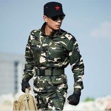 2016 Army Men Tactical Camouflage Military Uniform Combat Suit Woodland Jacket + Pants Long slevess Plus Size
