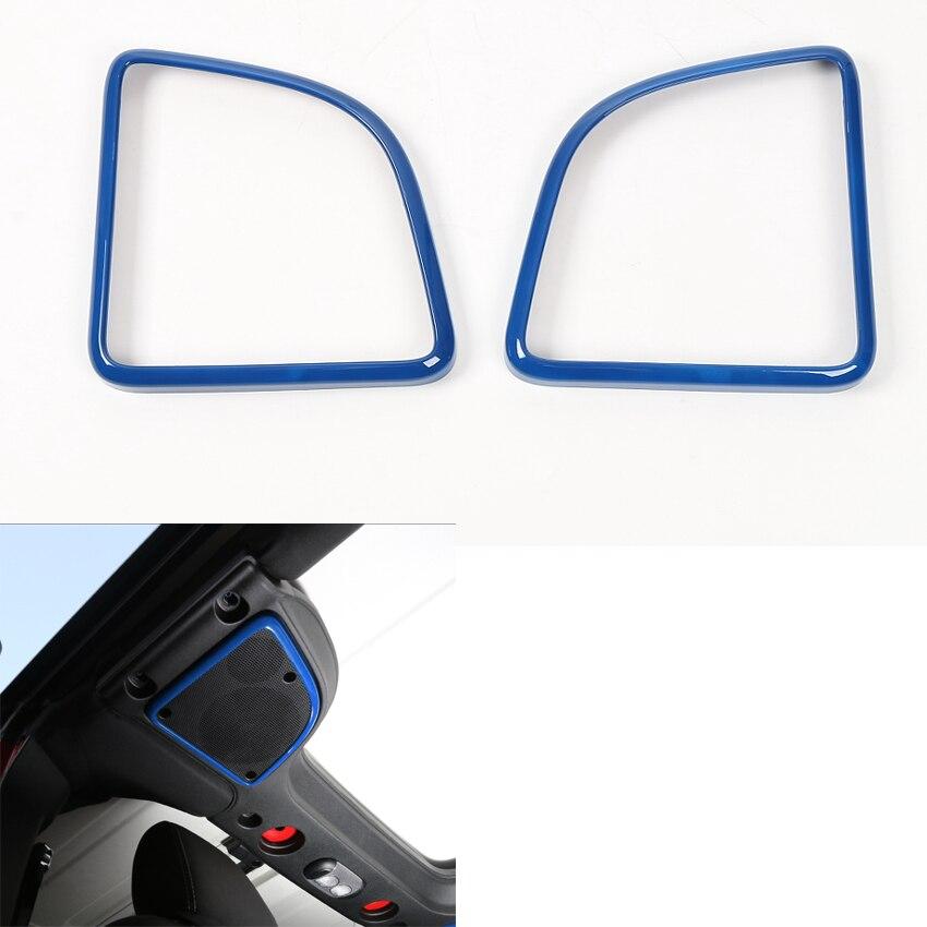 YAQUICKA 2 pièces/ensemble nouveau bleu voiture intérieur toit dôme haut-parleur couverture garniture cadre autocollant pour Jeep Wrangler 2015-2016
