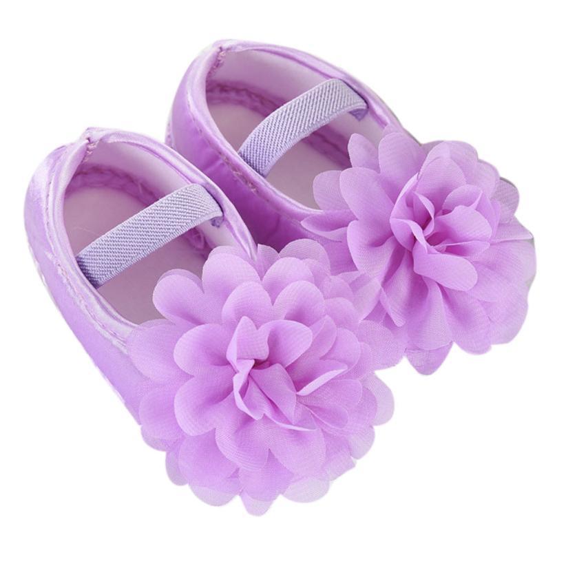BMF TELOTUNY Fashion Toddler Kid Baby Girl Chiffon Solid Flower Elastic Band Newborn Walking Shoes First Walkers Apr20 drop Ship