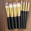 8PCS Makeup Brushes Cosmetics Eyeshadow Eyeliner Brush Kit Set Wooden Makeup tool Free shipping