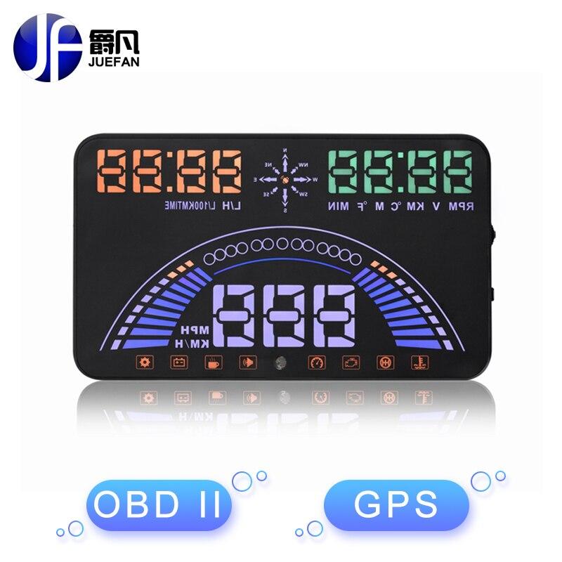 New S7 HUD Display font b Car b font with OBD 2 font b GPS b