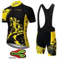 2020 Team X-CQREG Radfahren Kleidung Bike jersey 12D GEL Pads Herren Ropa Ciclismo Fahrrad Sommer Tops Radfahren Trikots Bike Shorts