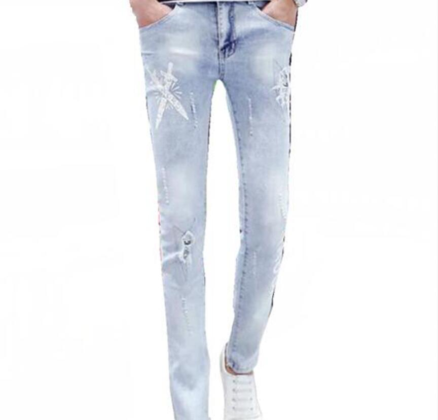 Mens Korean version of the four seasons new style trend with the youth fashion leisure slim body stretch jeans / 28-32