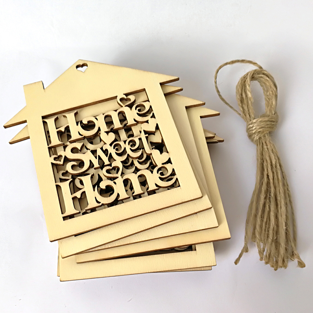 10Pcs Decorative Wood Wall Hanging Home Sweet Sign Plaque ...