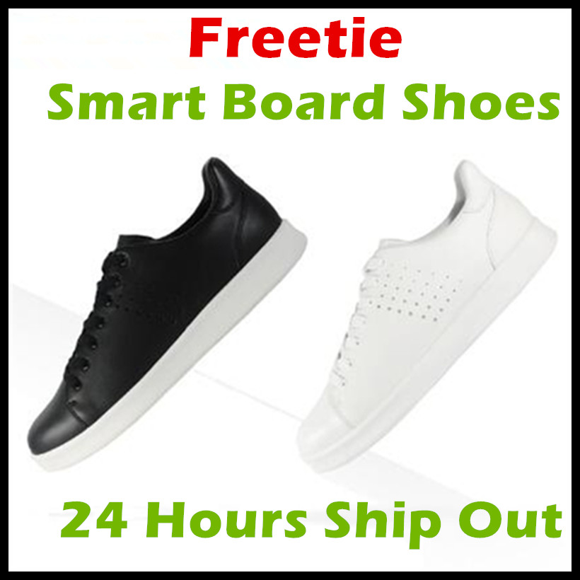 2017 Xiaomi Free Tie Freetie Leisure Genuine Leather Smart Board Shoes Plateshoes Breathable Design Supporting Xiaomi Smart Chip