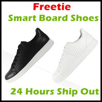 2017 Xiaomi Mijia Free Tie Freetie Leisure Genuine Leather Smart Board Shoes Breathable Design Supporting Xiaomi
