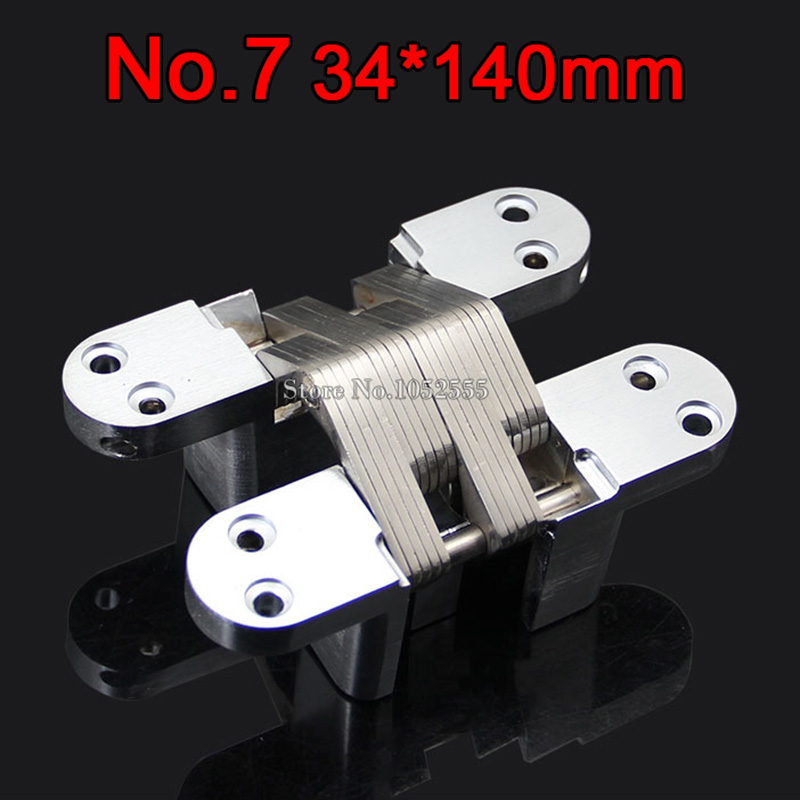 1PCS Invisible Concealed Cross Door Hinge 34x140mm Stainless Steel Hidden Hinge Bearing 60KG For Folding Door K101-2