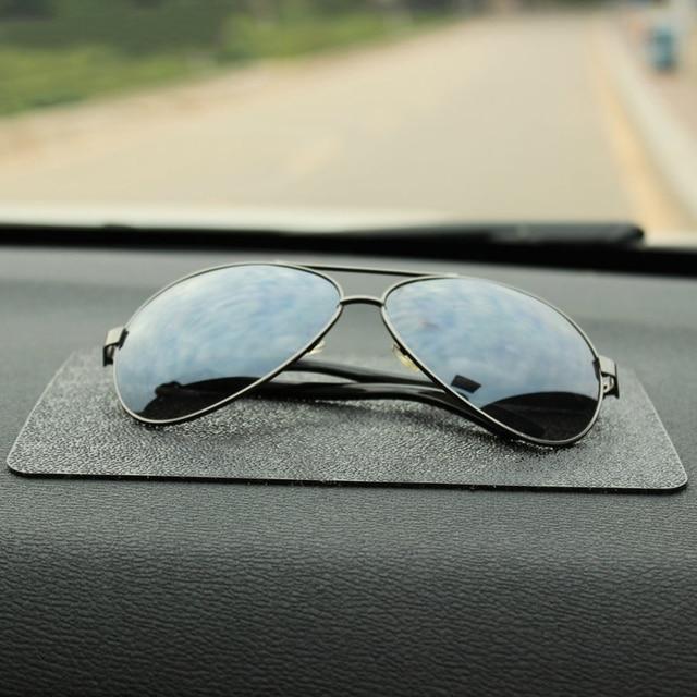 Voiture Ornement PVC Anti-Slip Mat Collant Pad Automobiles Intérieur Tableau de Bord Non Slip Mat Pour Téléphone Coin Sunglass Titulaire accessoires 2
