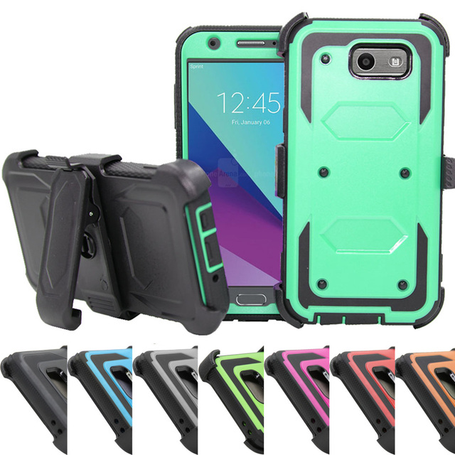 separation shoes 5b821 00c73 Heavy Duty Armor Case Belt Clip Holster Cover For Samsung Galaxy J3  Emerge/J3 2017/J3 Eclipse/J3 Mission/J3 Luna Pro/J3 Prime-in Holsters &  Clips from ...