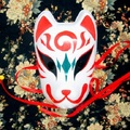 Full Face Hand-Painted Japanese Fox Mask Yue Pattern Cosplay Masquerade for Party Carnival Halloween