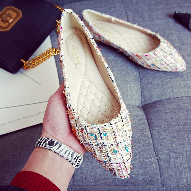 Luxury 2019 Women Shoes Flats Pointed Fashion Ballet Flats Mixed Colors Slip On Retro Shoes Woman Plus Size 33 43 High Quality in Women 39 s Flats from Shoes