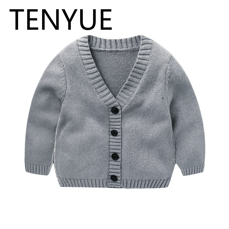 TENYUE, 2018 Autumn Clothes, Neonatal Knitting Cardigan, Spring&Autumn Baby Girl Sweater, Baby Boy Sweater, Knitting Cardigan turtle neck vertical knitting stretchy sweater