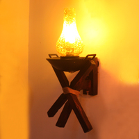 wood antique Wall Lamps lantern net gamma American loft industrial retro cafe bar creative personality wall lights LU71474 YM