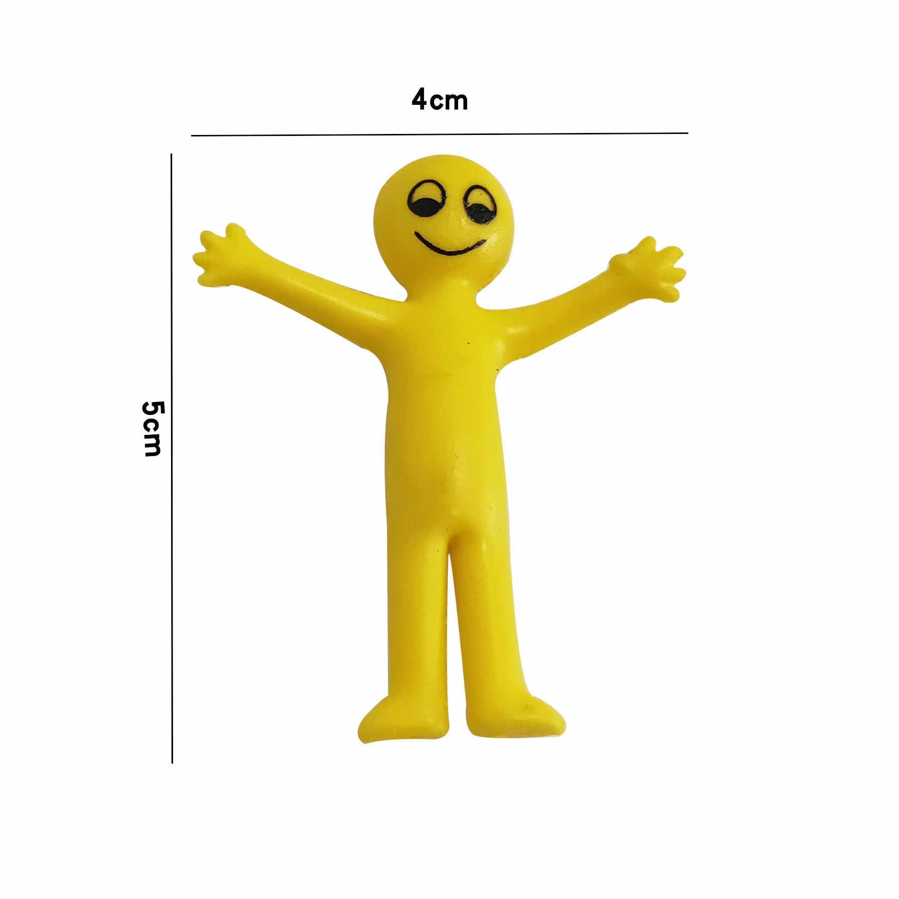 Новинка TPR мягкий клей с выражением желтого человечка может тянуть маленькую игрушку куклы Упакованные твист яйцо игрушки Забавные игрушки-гаджеты Squishy