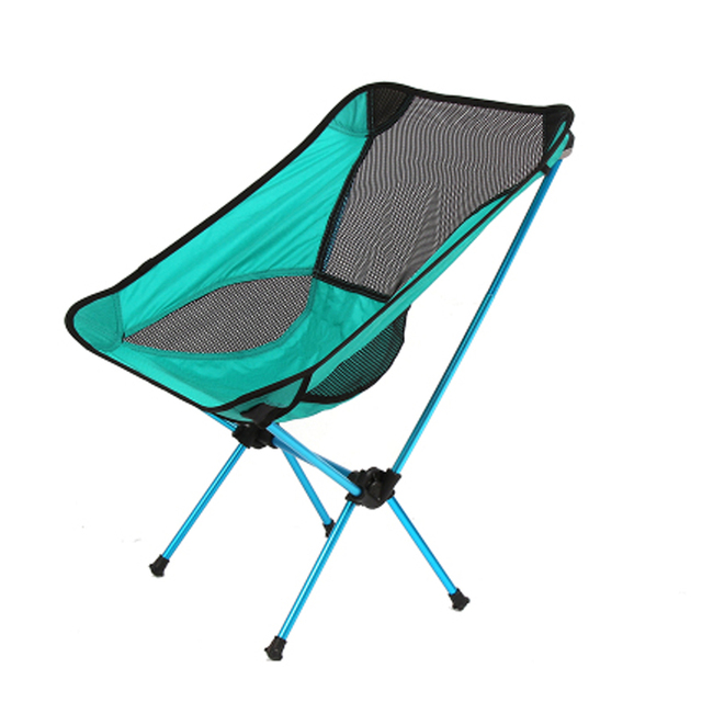 De alta qualidade respirável encosto dobrável cadeira cadeira de pesca ao ar livre portátil banho de sol piquenique churrasco