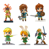 Nendoroid Breath of the Wild Majora's Mask Model Toys PVC Action Figure Link Nendoroid Figma Toy Doll
