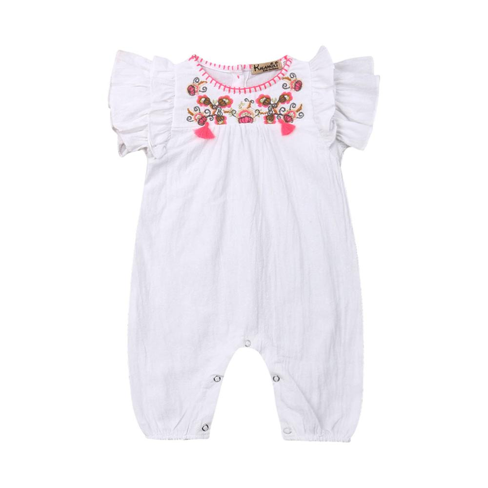 Baby Kids Girl Toddler Clothes Ruffle Floral Romper Jumpsuit Playsuits One-Piece