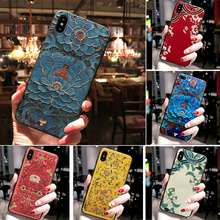 3D Flower Cover Coque For Samsung A70 Case A 70 2019 A705 A705F Silico