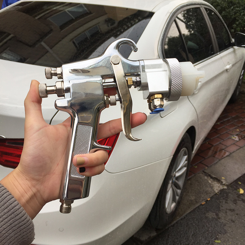 SAT1182 professional diy tools high pressure paint spray  gun chrome paint car washing spray gun painting pneumatic tools recommended intake pipe pressure reducer propane professional tools special filtration device e0873