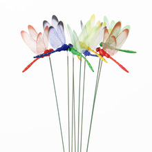 10 шт., искусственные стрекозы, бабочки, садовые украшения, имитация стрекозы, колья для двора, растения, газон, Декор, искусственные стрекозы, Декор
