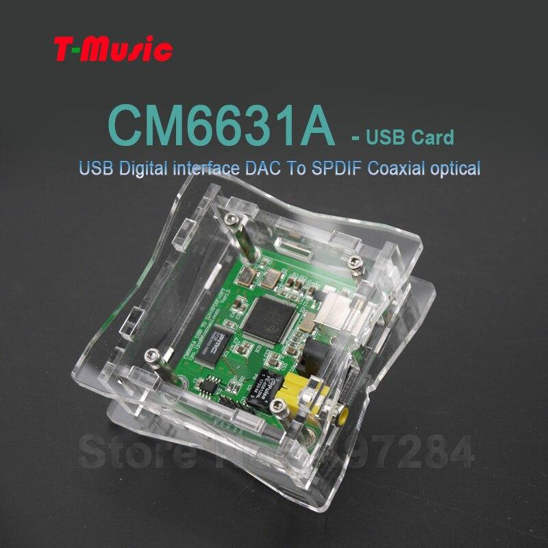 2019 Neuer Stil Hifi Cm6631a Usb Digital Interface Dac Zu Spdif Koaxial Optische Ausgang Einfach Zu Verwenden Tragbares Audio & Video