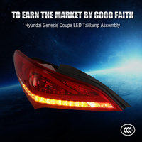 Car Styling LED Rear Light For Hyundai Genesis Coupe LED Tail Light 2009 2014 Verna LED