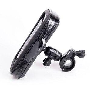 Image 3 - INIZEAL 360 Rotierenden Wasserdichte Fahrrad Telefon Halter Tasche moto rcycle Stehen soporte movil moto Outdoor Unterstützung für Alle Smartphone