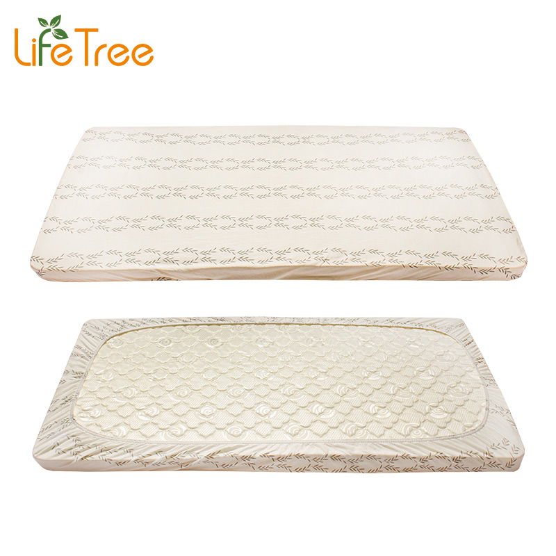 2 Pcs Set Cotton Baby Crib Fitted Sheet Infant Cot Bed
