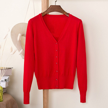 6xl 5xl Girl Casual Button Knitted Cardigan Autumn Korean Women Loose Solid Color V-Neck Design Sweater Jacket Pink Beige