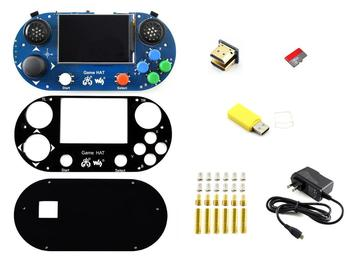 Accessories Pack type G for Raspberry Pi Including Game HAT Micro SD Card and Power Adapter