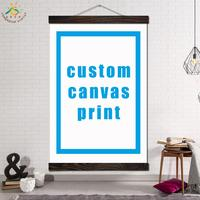 Custom Canvas Print Vintage Posters and Prints Scroll Painting Canvas Art Modern Wall Pictures Frame Painting Home Decoration
