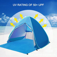 Durable Pyramid Tent Folding Tent 2 Persons Blue Camping Tent Hanging Bed Oxford Cloth Mosquito Net