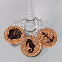New Fashion Drink Markers Nautical Wine Glass Charm Cork Cocktail Markers Party Table Decoration Wedding Accessories