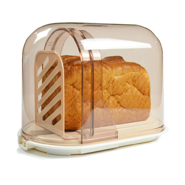 Charmant New Arrival Knife Bread Toast Slicer Rack Bread Storage Box Device
