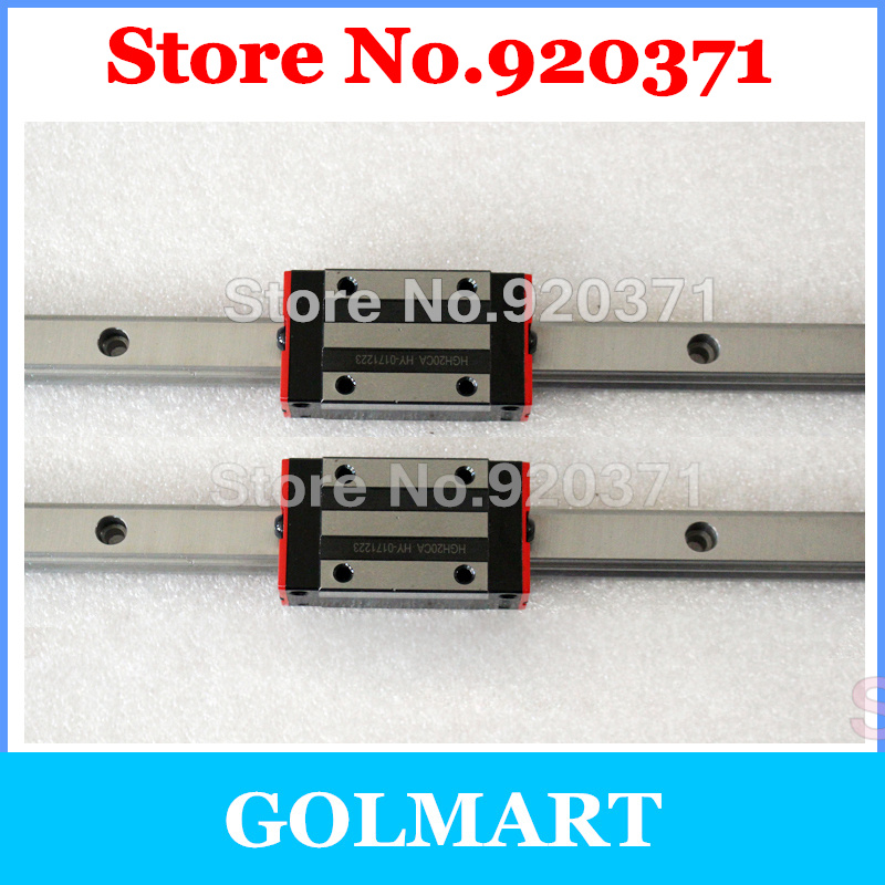 HGR20 linear guide rail 350 400 450 500 550 600 650 700 750 762 800 mm