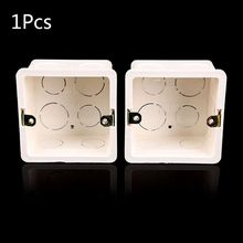 86X86 PVC Junction Box Wall Mount Cassette For Switch Socket Base Switch Bottom Box Electrical Box Accessories