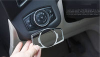 Car Head Light Switch Control Button Trim Cover Styling Sticker Fit For Ford Explorer 2011 2012
