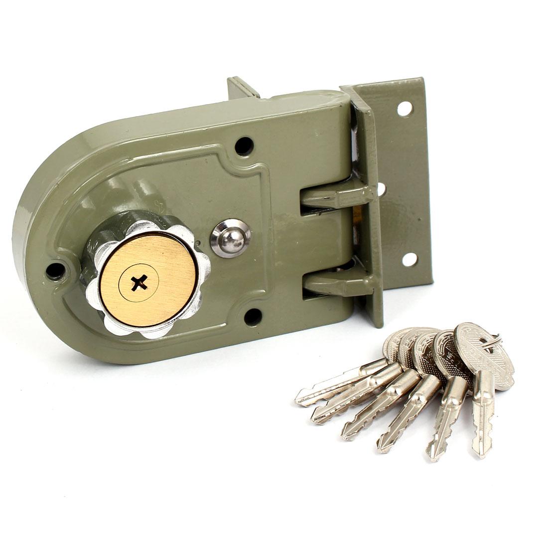 Serrure de porte à clé à l'épreuve de Jimmy de pêne dormant de cylindre simple de matériel de serrures de bureau à la maison pour l'amélioration d'épaisseur de porte de 35-50mm