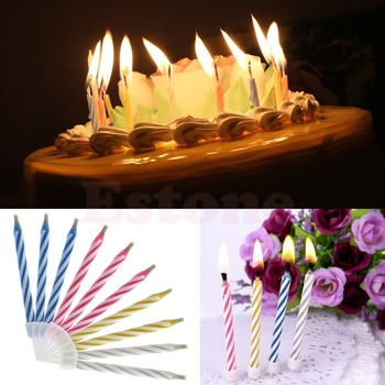 10Pcs Magic Relighting Candles for Birthday Fun Party Cake Boy Girls Trick Toys