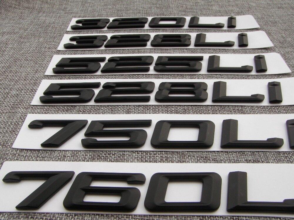 "Gloss Black /"" 750Li /"" Number Trunk Letters Emblem Badge Sticker for BMW 7 Series"