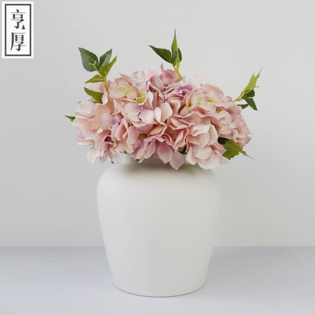 2016 Brief Decoration White Ceramic Vases For Wedding Decoration