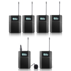 100m RF stereo Wireless Microphone For Tour Guide Conference Teaching with Microphone (5 reciver + 1 transmitter)